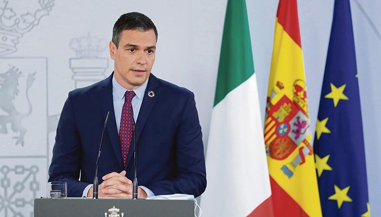 Ministerpräsident Sánchez begrüßt es, dass das Königshaus sich vom emeritierten König distanziert. Foto: efe