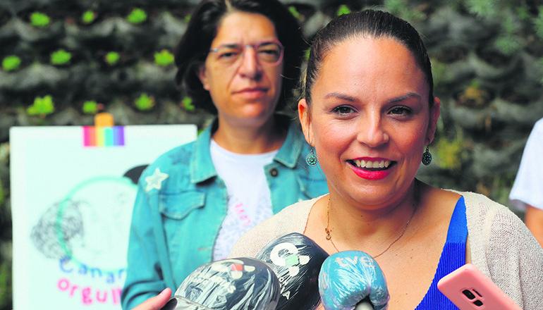 Der kanarische Parlamentsabgeordnete Poli Suárez Nuez kritisierte die Ressortchefin für Soziale Rechte, Noemí Santana. Fotos: ParCan / EFE