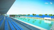 """Das geplante """"Ausbildungszentrum für Hochleistungssportler"""" (Centro Insular de Deportes Acuáticos, CIDAC) wird so bemessen sein, dass dort internationale Wettkämpfe ausgetragen werden können. Foto: Cabildo de Tenerife"""