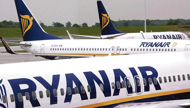 Ryanair stellte einen zweiten Kurzar- beitsantrag, nachdem ein Gericht die Airline zur Wiedereinstellung von über 200 Mitarbeitern verurteilt hatte. Foto: EFE