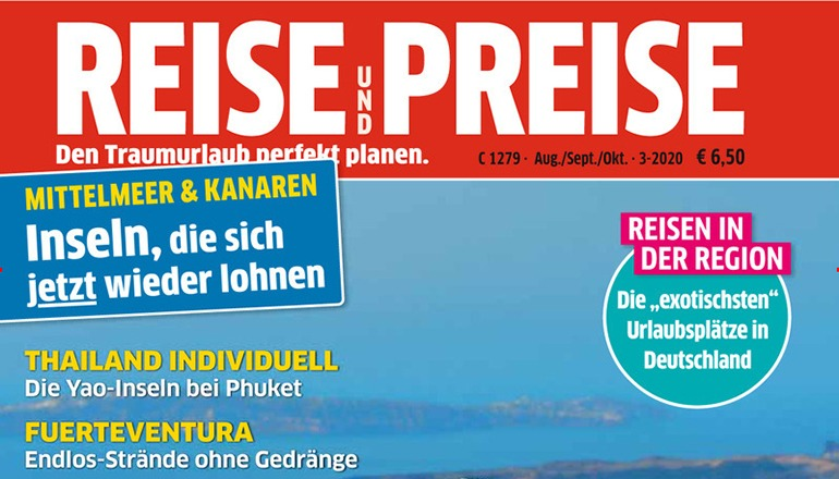 Der Test der Reise-Krankenversicherungen ist in der aktuellen Ausgabe der Zeitschrift Reise & Preise für August, September und Oktober 2020 erschienen. Foto: Reise & Preise