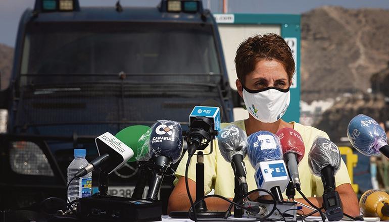 Onalia Bueno bei der Pressekonferenz Foto: efe