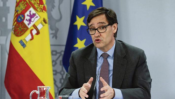 Der spanische Gesundheitsminister Salvador Illa Foto: EFE
