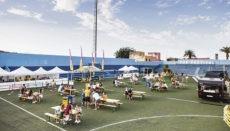 Das Phe-Musikfestival fand in diesem Jahr in abgeänderter Form im städtischen Fußballstadion El Peñón von Puerto de la Cruz statt. Alles wurde so organisiert, dass die Corona-Auflagen eingehalten werden konnten. Foto: Omar Acosta