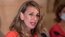 Arbeitsministerin Yolanda Díaz befürwortet die Verlängerung der Kurzarbeitsregelung. Foto: EFE