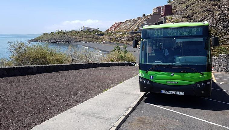 Die Busse der Titsa haben in den letzten vier Monaten 7,8 Millionen Fahrgäste befördert. Foto: Titsa
