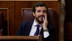 Pablo Casado (PP)bezeichnete REgierungschef Sánchez als Feigling. Foto: efe