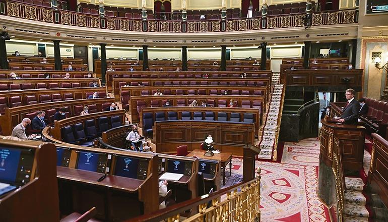 187 der 350 spanischenAbgeordneten unterzeichneten das Kommuniqué. Foto: EFE