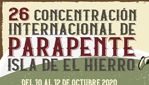 Gleitschirmflieger El Hierro Plakat