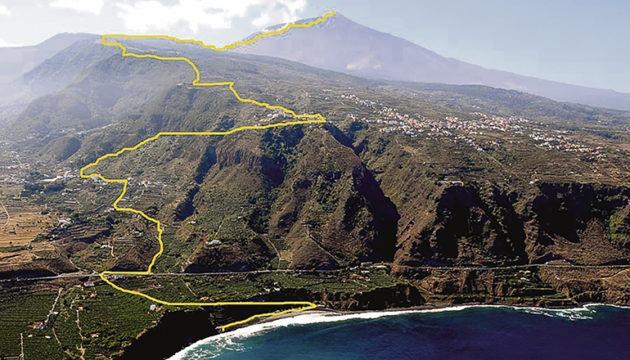 "Die ""Ruta 0-4-0"" führt vom El Socorro-Strand in Los Realejos bis hinauf zum Teide."
