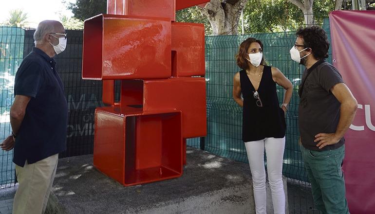 """Die Skulptur""""Lorea"""" Foto: Ayuntamiento Santa Cruz"""