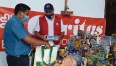 Die Ausgabestelle der Caritas-Gruppe La Concepción in Los Realejos versorgt bedürftige Familien mit Lebensmitteln und Hygieneartikeln.