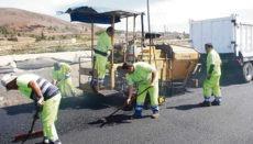 Bauarbeiten an einer kanarischen Landstraße Foto: CabTf