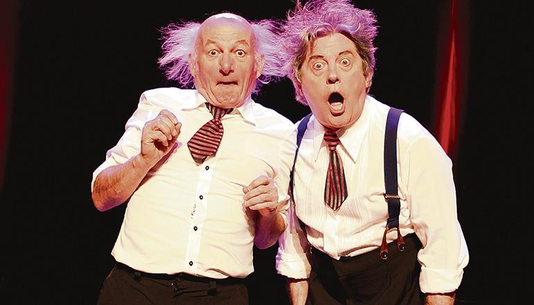 """1985 schlossen sich Joseph Collard und Jean-Louis Danvoye zu """"Les founambules"""" zusammen. Mit ihrem einzigartigen Humor, der keiner Worte bedarf, eroberten sie das Publikum und tourten jahrelang durch Europa und Kanada. Jetzt sind die genialen Komiker mit einer ihrer erfolgreichen Shows zurück. Foto: clownbaret"""