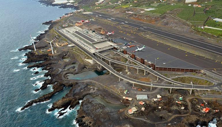 Der La Palma-Tourismus leidet in diesem Winter unter dem Verlust verschiedener direkter Flugverbindungen. Foto: Fotos Aéreas de Canarias