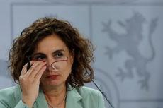 Finanzministerin María Jesús Montero hat Schwierigkeiten, einen neuen Haushalt verabschieden zu lassen. Foto. EFE