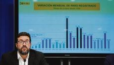 Joaquín Pérez Rey, Staatssekretär für Arbeit, gab die Arbeitslosenzahlen im Oktober bekannt. Foto: EFE