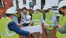 Cabildo-Präsident Mariano Zapata besuchte die Baustelle. Foto: CABLP