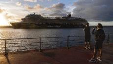"""Die """"Mein Schiff 2"""" am 10. November im Hafen von Santa Cruz de Tenerife Foto: efe"""
