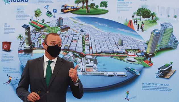 Bürgermeister Augusto Hidalgo stellte den ehrgeizigen Plan vor. Foto: Ayuntamiento de Las Palmas de Gran Canaria