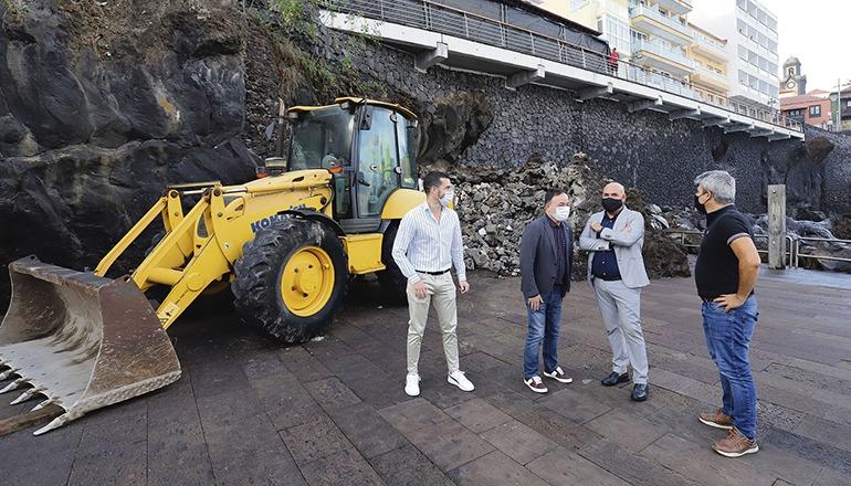 "Der ""Kiosco"" der Badebucht soll im Frühjahr fertig sein. Foto: Ayuntamiento puerto de la Cruz"