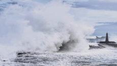 Die Wucht, mit der die Wellen in Bajamar auf die Küste krachten, zeigt auch unser Video auf facebook. Foto: EFE