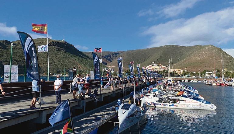 Die Boote vor dem Start in San Sebastián de La Gomera Foto: cabildo de la gomera