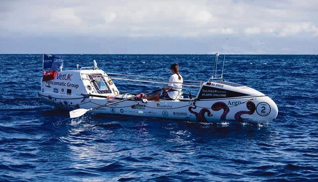 """Jasmine aus Großbritannien will die jüngste Frau sein, die allein über den Atlantik rudert. Sie sammelt mit ihrem Projekt Spenden für die """"ShelterBox""""-Katastrophenhilfe. Foto: facebook/@atlanticcampaigns"""
