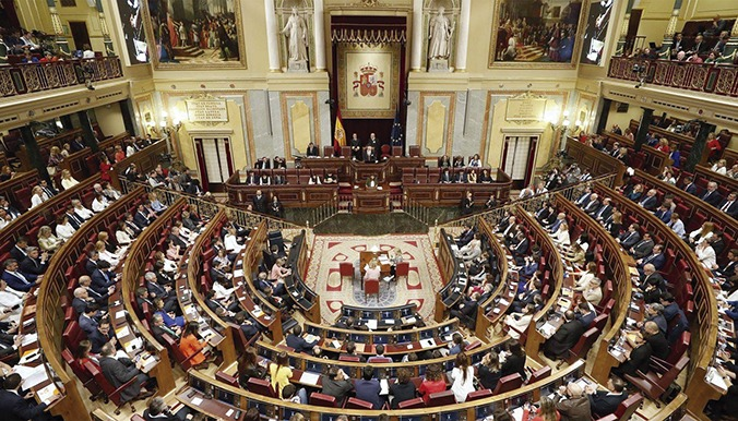 Sitzung im Spanischen Parlament Foto:EFE