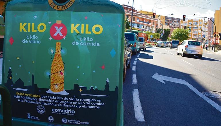Die Aktion gilt nur für die entsprechend gekennzeichneten Container. Foto: ayuntamiento de la ORotava