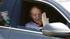 Der emeritierte König Juan Carlos I. auf einem Archivfoto aus dem Jahr 2019, als er nach einer Herzoperation das Krankenhaus Quirón in Madrid verließ. Foto: efe