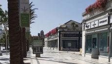 Die Kanaren leiden durch die große Abhängigkeit vom Tourismus besonders unter den wirtschaftlichen Auswirkungen der Pandemie. Die menschenleere Shopping-Meile von Playa de las Américas ist nur ein Beispiel. Foto: WB