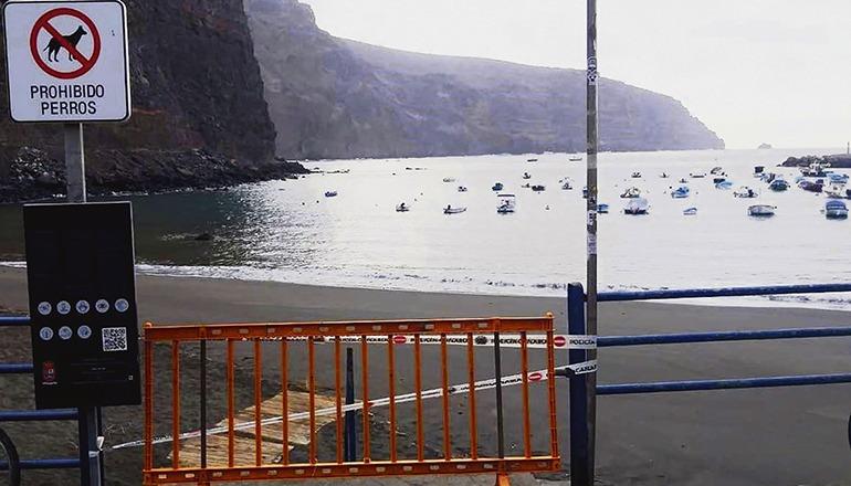 Die Sperrung soll erst aufgehoben werden, wenn die Sicherheit der Badegäste gewährleistet werden kann. Foto: ayuntamiento de valle gran rey