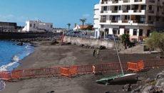 Der Strand Las Vueltas an der Gemeindegranze von Hermigua und Valle Gran Rey auf La Gomera ist teilweise wieder geöffnet. Foto: Ayuntamiento Valle Gran Rey
