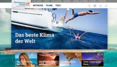 Auf der Website www.hallokanarischeinseln.com gibt es alle Informationen zu den gültigen Sicherheitsmaßnahmen. Foto: Screenshot