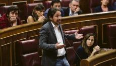 Der spanische Vizepräsident und Chef von Podemos Pablo Iglesias Foto: EFE