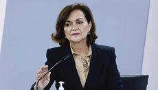 """Vizepräsidentin Carmen Calvo versicherte in einem Interview mit der Zeitung """"El País"""", dass für die dritte Corona-Welle keine Ausgangssperre vorgesehen sei. Foto: efe"""