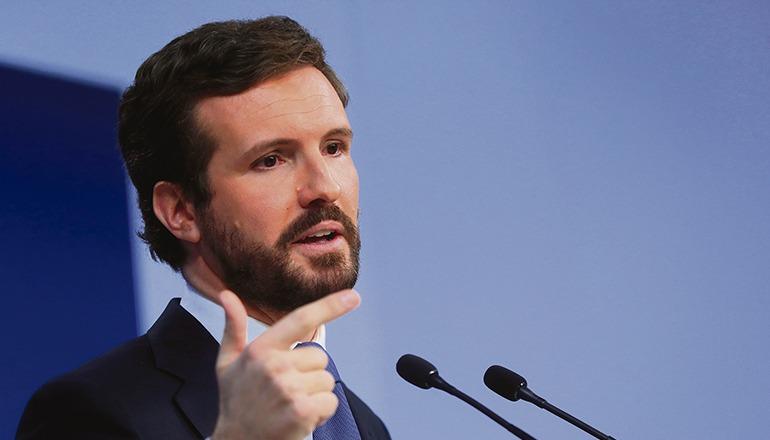 """PP-Chef Casado bezeichnete Spanien unter Pedro Sánchez als """"Bananenrepublik"""". Foto: efe"""
