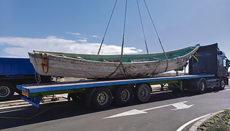 "Abtransport eines ""Cayuco"" in Granadilla Foto: noticia"