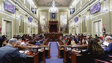 Sitzung im Regionalparlament der Kanarischen Inseln Foto: EFE