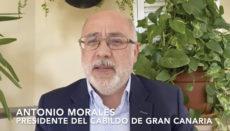 Cabildo-Präsident Morales richtete in einer Videobotschaft eindringliche Worte an Pedro Sánchez und Ursula von der Leyen Foto: cabildo de gran canaria