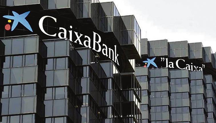 Der Verwaltungssitz der CaixaBank in Barcelona Foto: EFE