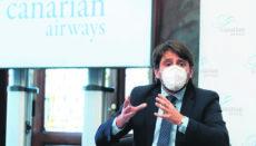 Ashotel-Präsident Jorge Marichal, Hauptideengeber und Vorantreiber der Idee, erläuterte die Roadmap. Foto: EFE