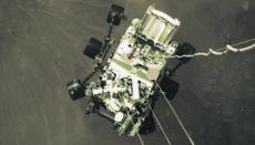 Mars-Rover Perseverance bei der Landung auf dem Mars Foto: NASAMars-Rover Perseverance bei der Landung auf dem Mars Foto: NASA