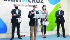 Bürgermeister José Manuel Bermúdez und Stadtrat Alfonso Cabello (l.) stellten die Initiative vor. Foto: Ayuntamiento de santa cruz de tenerife