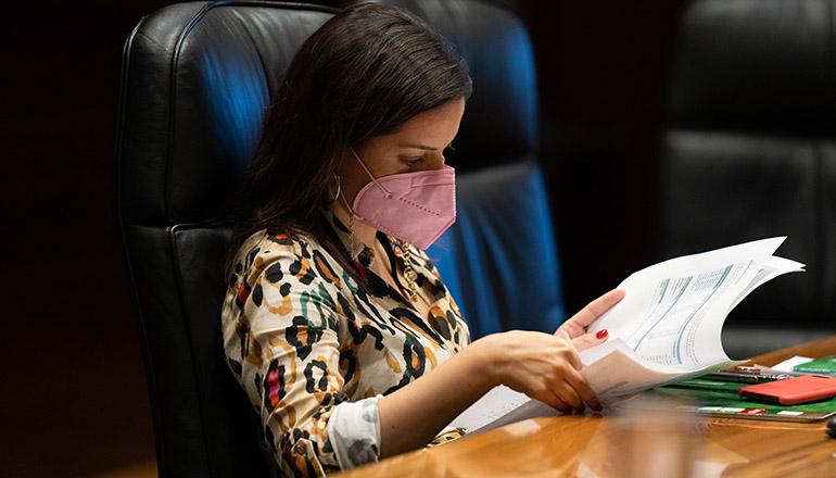 Yaiza Castilla, die kanarische Ministerin für Tourismus, Industrie und Handel Foto: EFE