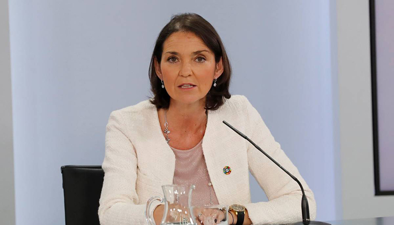 María Reyes Maroto, spanische Ministerin für Industrie, Handel und Tourismus Foto: EFE