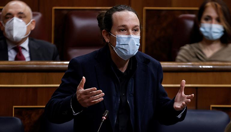 Vizepräsident Pablo Iglesias Foto: EFE