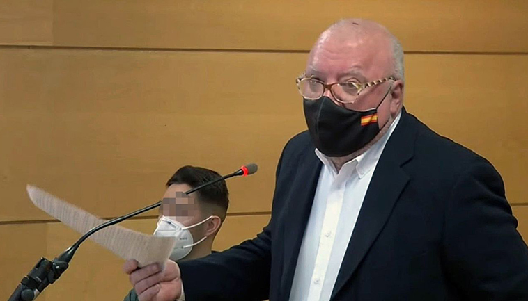 Ex-Kommissar José Manuel Villarejo im Gerichtssaal Foto: EFE