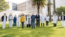 Das OP-Team des HUC freut sich über die 3.000. Nierentransplantation. Foto: efe